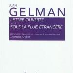 Lettre Ouverte – Juan Gelman